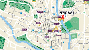 BeerCraft map, Pulteney Bridge, Bath