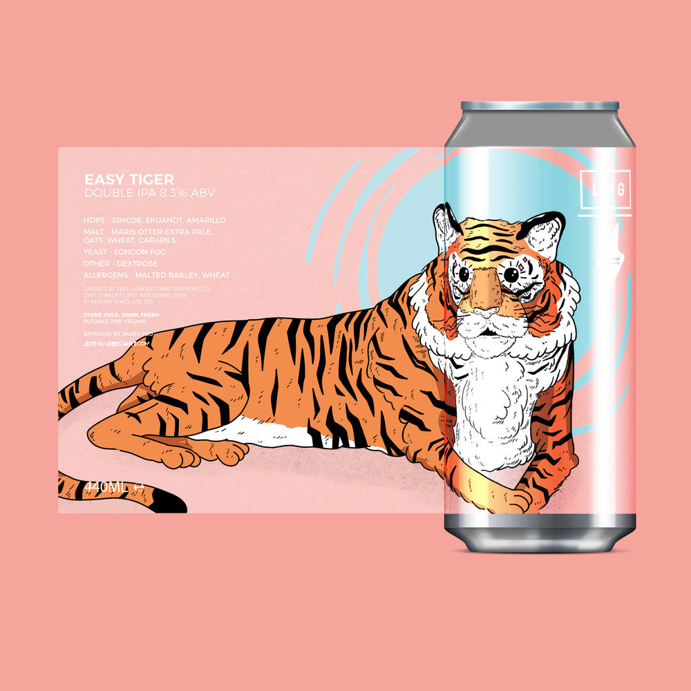 Left Handed Giant - Easy Tiger - Double IPA - 440ml Can