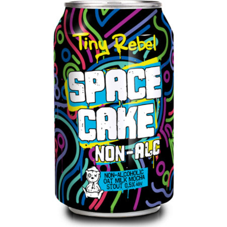 Tiny Rebel - Space Cake - Non Alcoholic Oat Milk Mocha Stout - 330ml Can