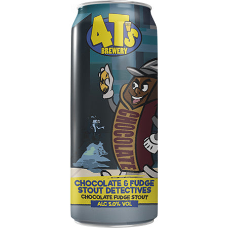 4Ts Brewery - Chocolate & Fudge Stout Detectives - 440ml Can