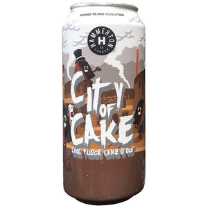 Hammerton - City of Cake - Chocolate Fudge Cake Stout - 330ml Can
