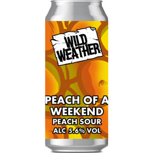 Wild Weather Ales - Peach of a Weekend - Peach Sour - 440ml Can
