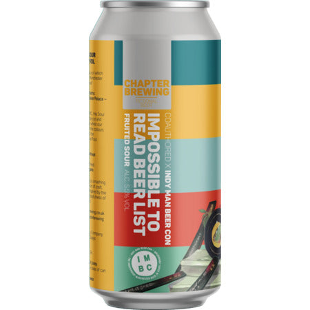 Chapter Brewing - Impossible to Read Beer List - Fruited Sour - 440ml Can