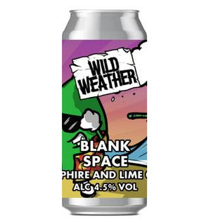 Wild Weather Ales - Blank Space - Samphire & Lime Gose - 440ml Can