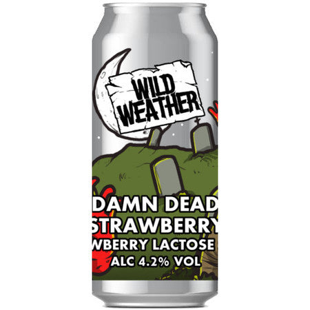 Wild Weather Ales - Damn Dead - Strawberry Lactose Sour - 440ml Can