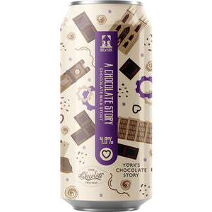 Brew York - A Chocolate Story - Chocolate Milk Stout - 440ml Can