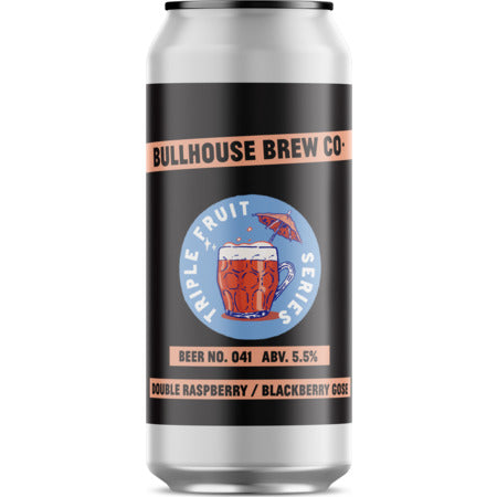 Bullhouse Brew Co - Beer No. 041 - Double Raspberry/Blackberry Gose - 440ml Can