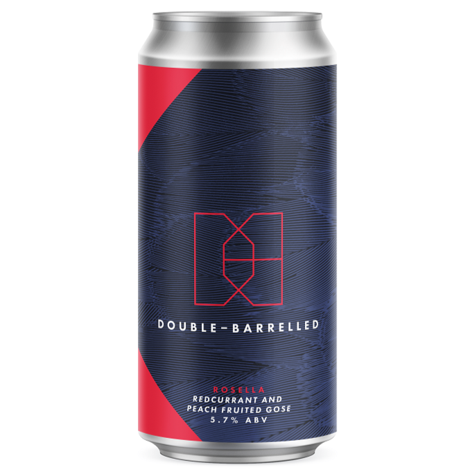 Double-Barrelled - Rosella - Redcurrant and Peach Fruited Gose - 440ml Can