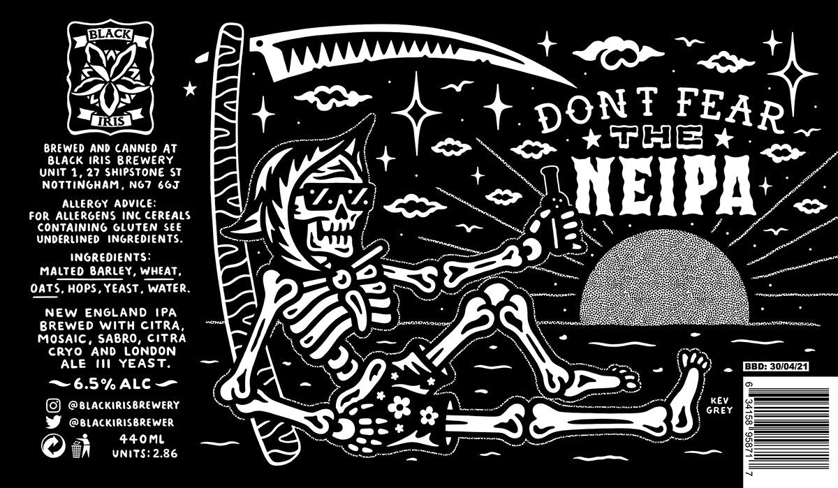 Black Iris Brewery - Don't Fear the NEIPA - New England IPA - 440ml Can
