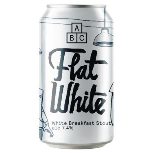 Alphabet Brewing Co - Flat White - White Breakfast Stout - 330ml Can