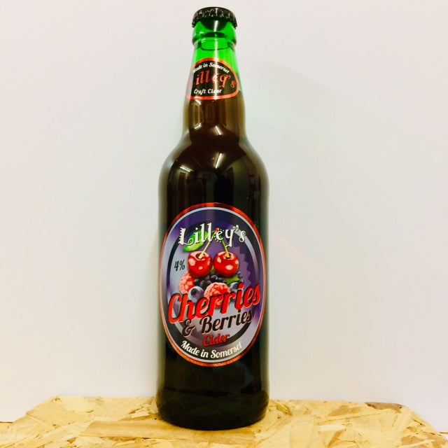 Lilley's Cider - Cherries & Berries - Fruit Cider - 500ml Bottle