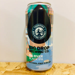 Big Drop Brewing Co - Black River - Alcohol Free Black IPA - 440ml Can