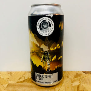 New Bristol Brewery - Cinder Toffee Stout - Blow-Torched Honeycomb - 440ml Can