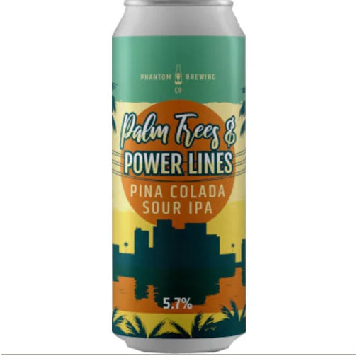 Phantom Brewing - Palm Trees & Power Lines - Pina Colada Sour IPA - 440ml Can
