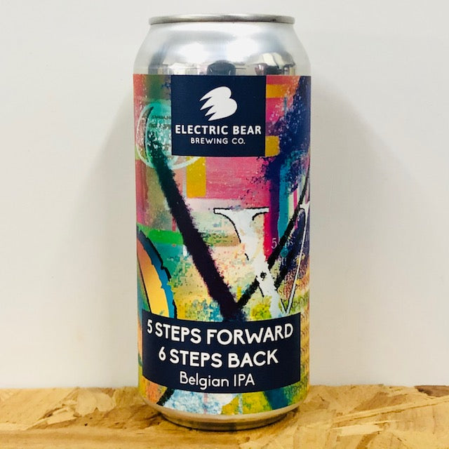 Electric Bear Brewing - 5 Steps Forward, 6 Steps Back - Belgian IPA - 440ml Can