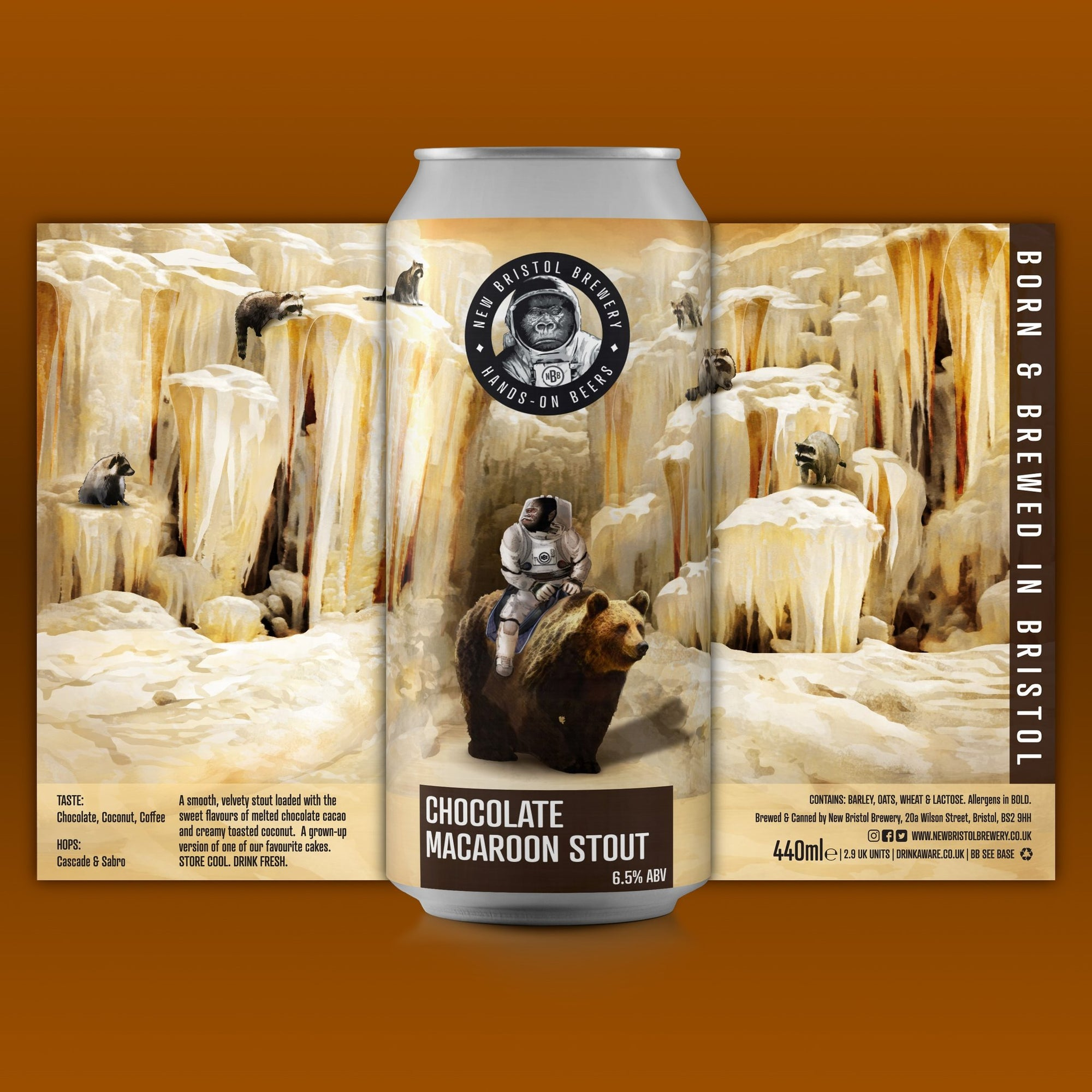 New Bristol Brewery - Chocolate Macaroon Stout - 440ml Can