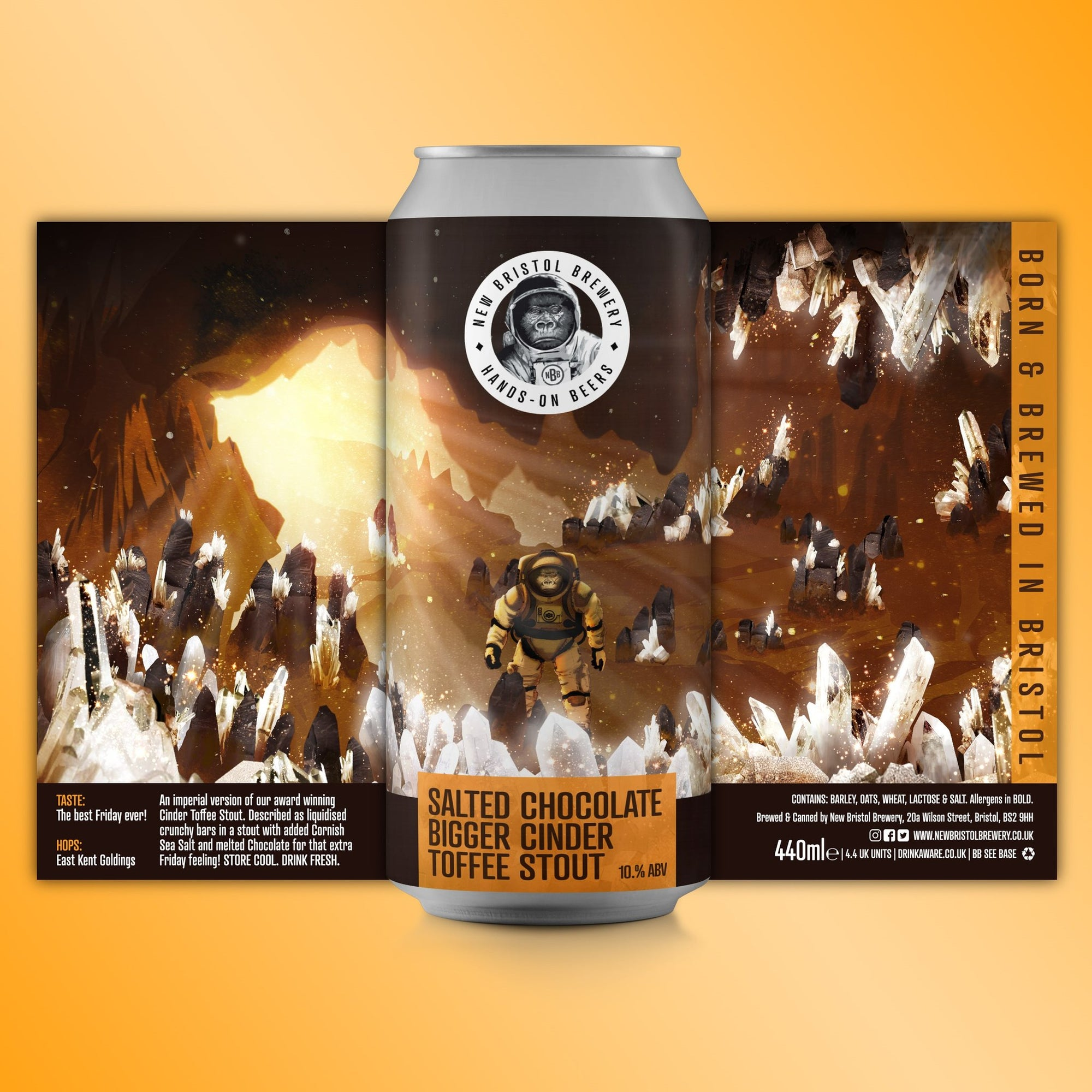 New Bristol Brewery - Salted Caramel Bigger Cinder Toffee Stout - 440ml Can