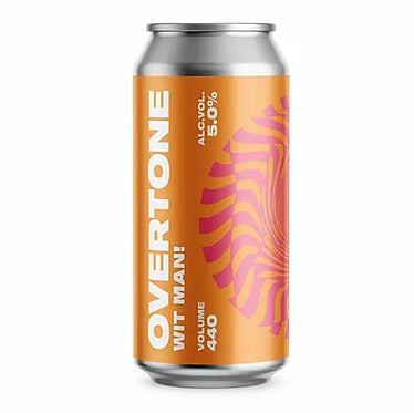Overtone Brew Co - Wit Man! - Belgian Wheat Beer - 440ml Can