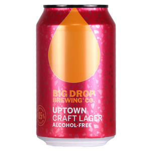 Big Drop Brewing Co - Uptown - Alcohol Free Craft Lager - 330ml Can