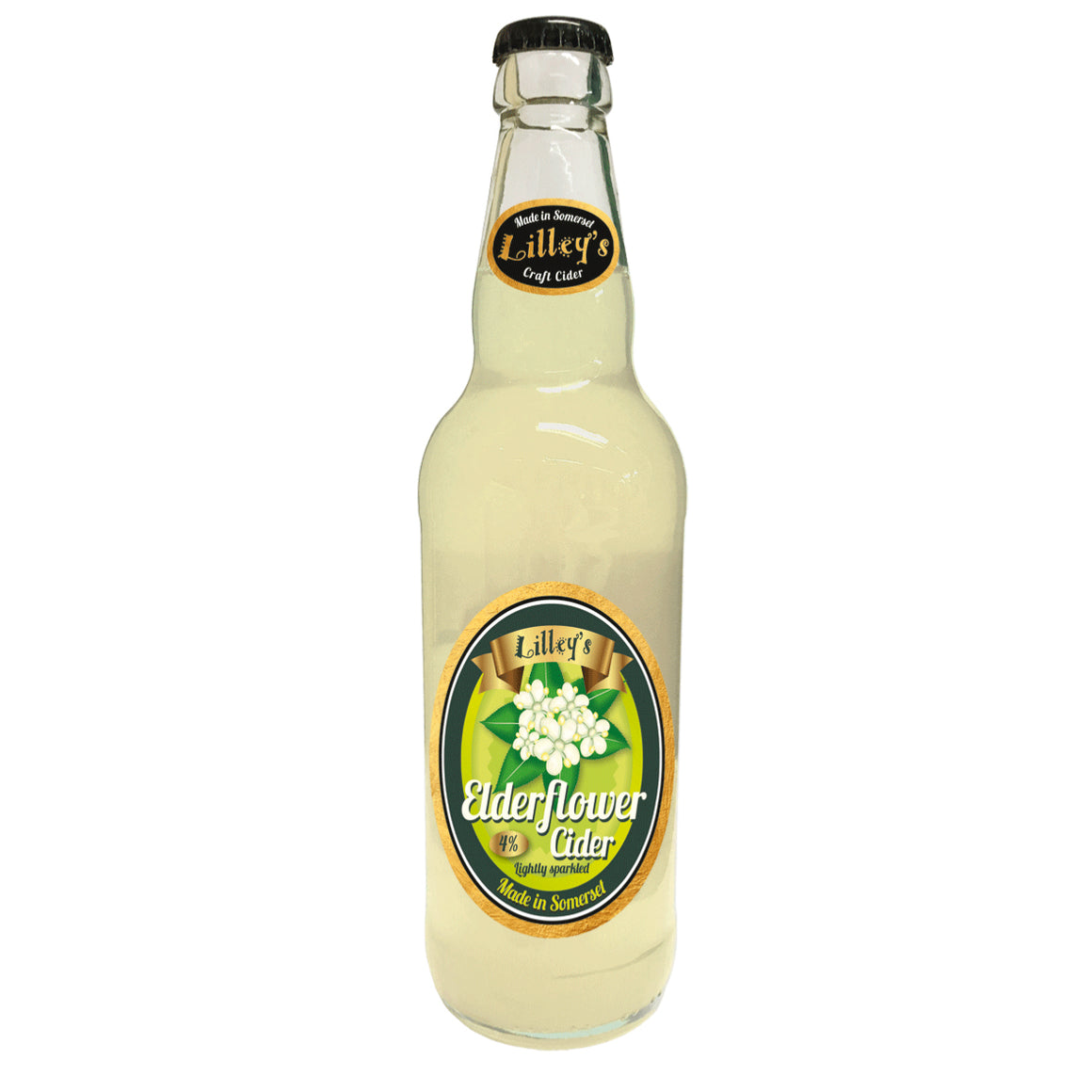 Lilleys Cider - Elderflower - 500ml Bottle