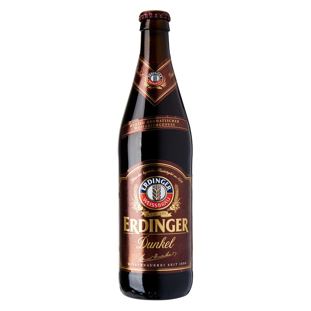 Erdinger - Dunkel - Dark Wheat Beer - 500ml Bottle