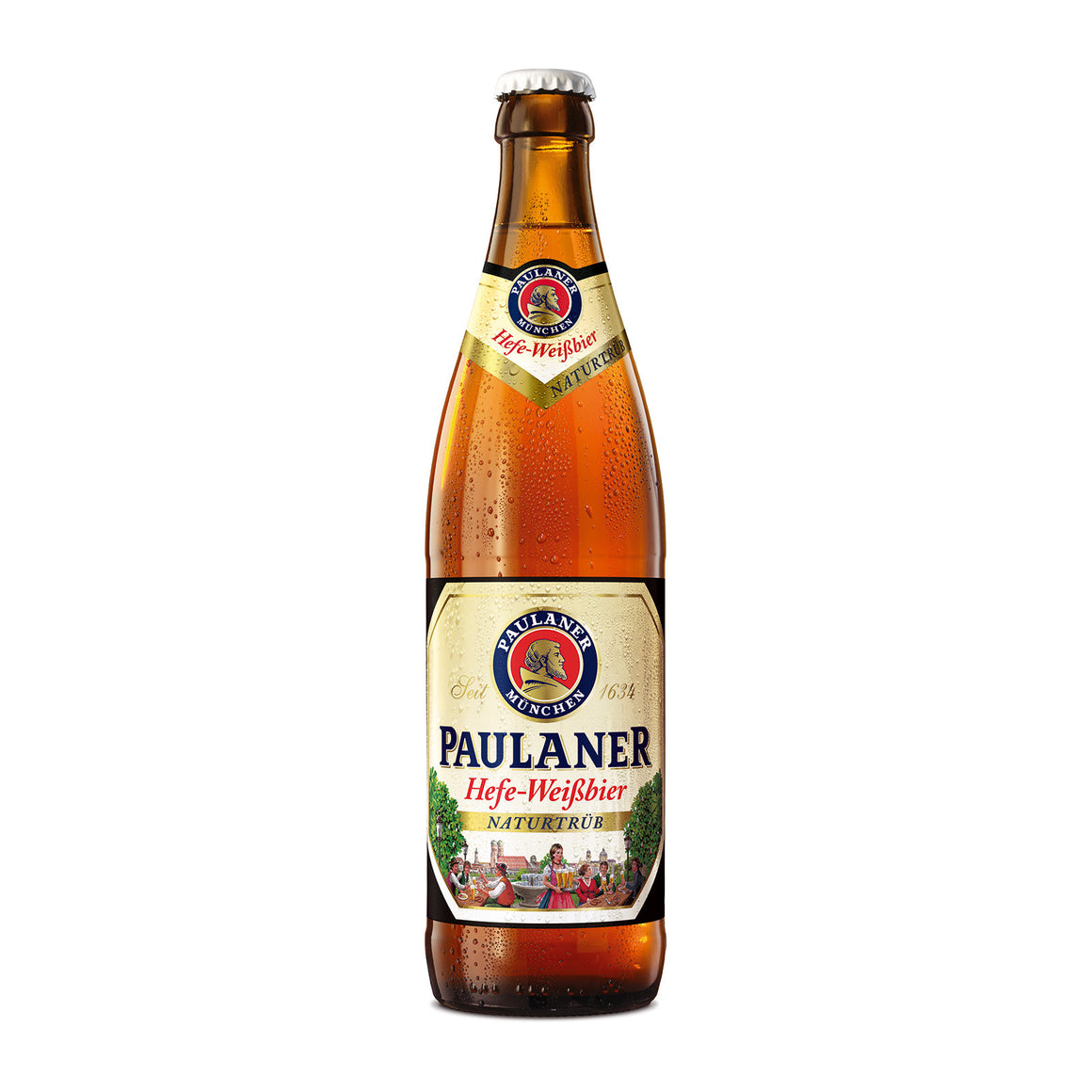 Paulaner Brewery - Hefe-Weißbier Naturtrub - Wheat Beer - 500ml Bottle