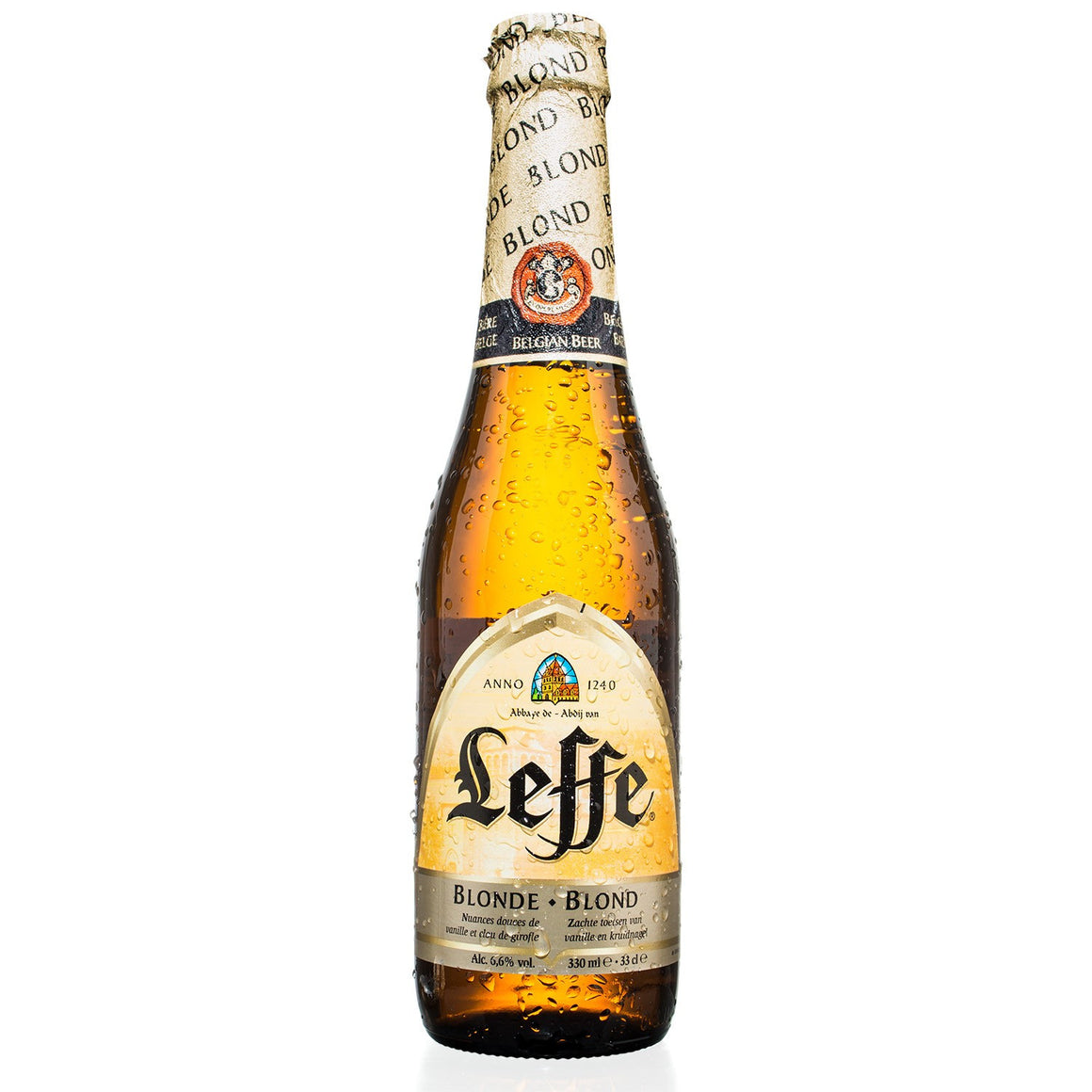 Leffe - Blond Belgian Abbey Beer - 330ml Bottle