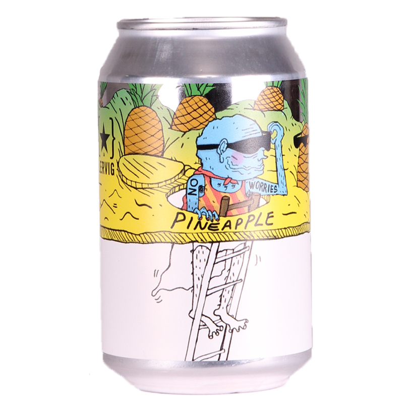 Lervig - No Worries Pineapple - Alcohol Free IPA - 330ml Can