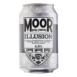 Moor Beer Company - Illusion - Black Session IPA - 330ml Can
