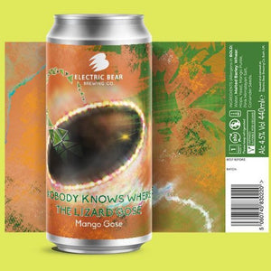 Electric Bear Brewing - Nobody Knows Where The Lizard Gose - Mango Gose - 440ml Can