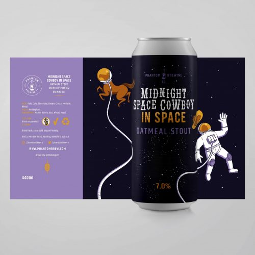 Phantom Brewing - Midnight Space Cowboy in Space - Oatmeal Stout - 440ml Can