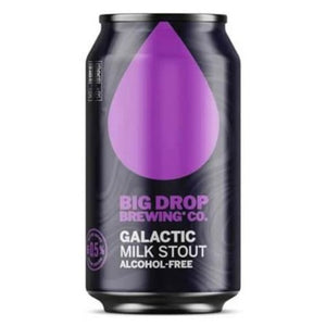 Big Drop Brewing Co - Galactic Milk Stout - Alcohol Free - 330ml Can