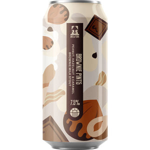 Brew York - Extra Brownie Pints - Peanut, Hazelnut & Caramel Brownie Milk Stout - 440ml Can