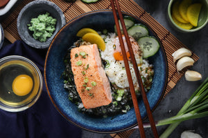 Salmon Mentaiko Don