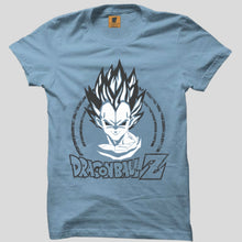 Best Seller: Dragon Ball z 3D Sky Blue Half Sleeve T-Shirt(Glow In Dark) - Badtamees