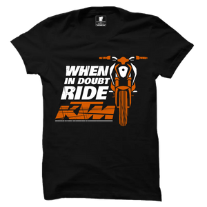 When in Doubt KTM Premium Official Black Half Sleeve Premium T-Shirt