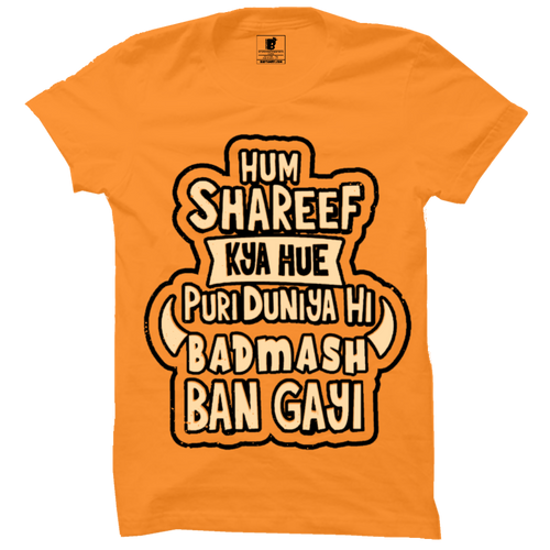Hum Shareef kya hue Premium Orange Half Sleeves T-Shirt