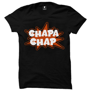 Ghapa Ghap Premium Black Half Sleeves T-Shirt