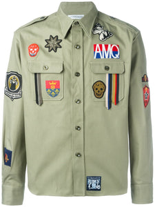 Multi-Patchwork Premium Cargo Shirt With Badges