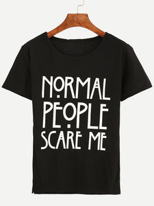Normal People: Back Print Premium Tee - Badtamees