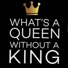 Whats a King Queen black Gold Tshirt Combo - Badtamees