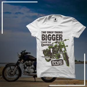Bigger than Enfield Official White Half Sleeve Premium T-Shirt