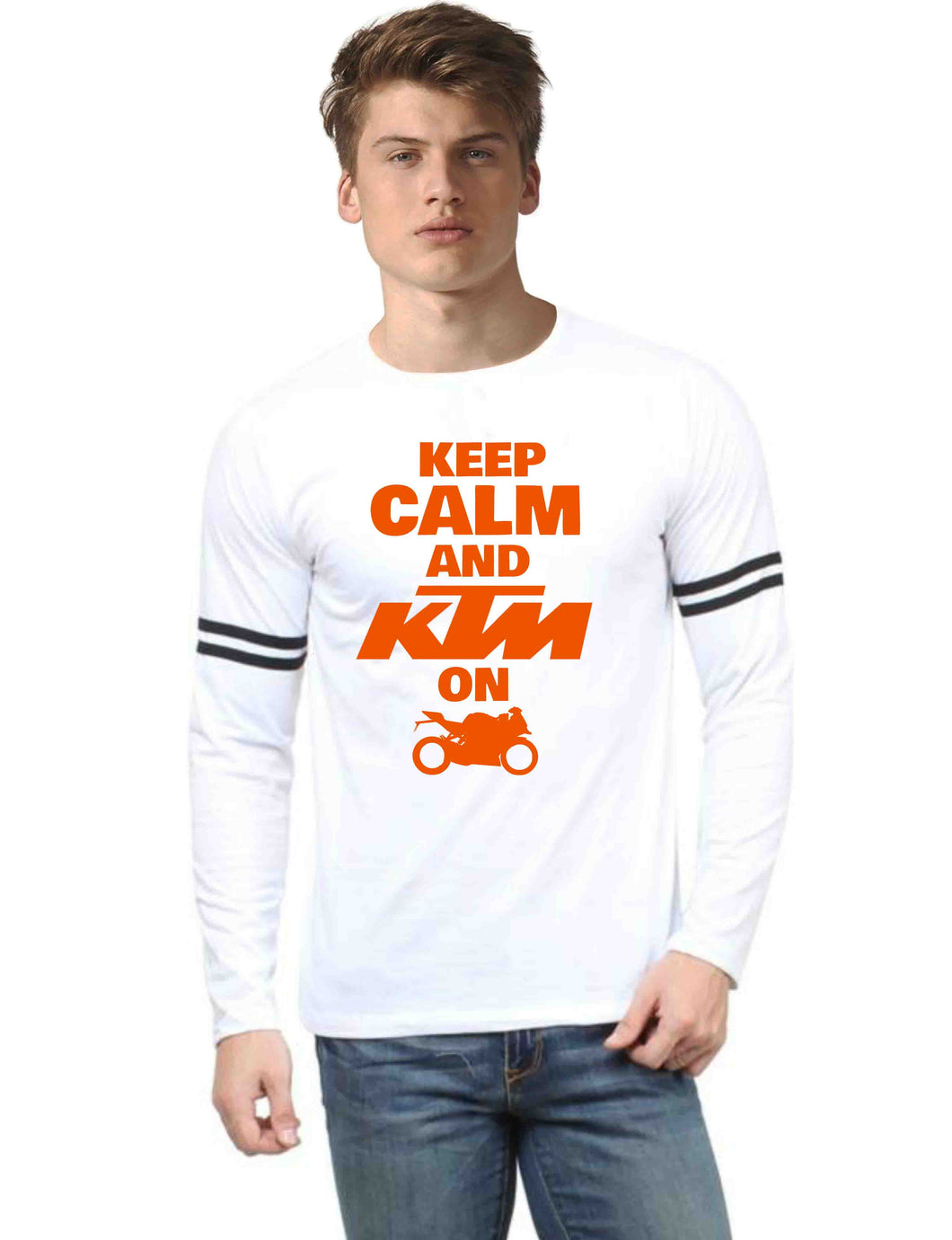 Official KTM RC Full sleeve Sports Trim white T-Shirt - Badtamees
