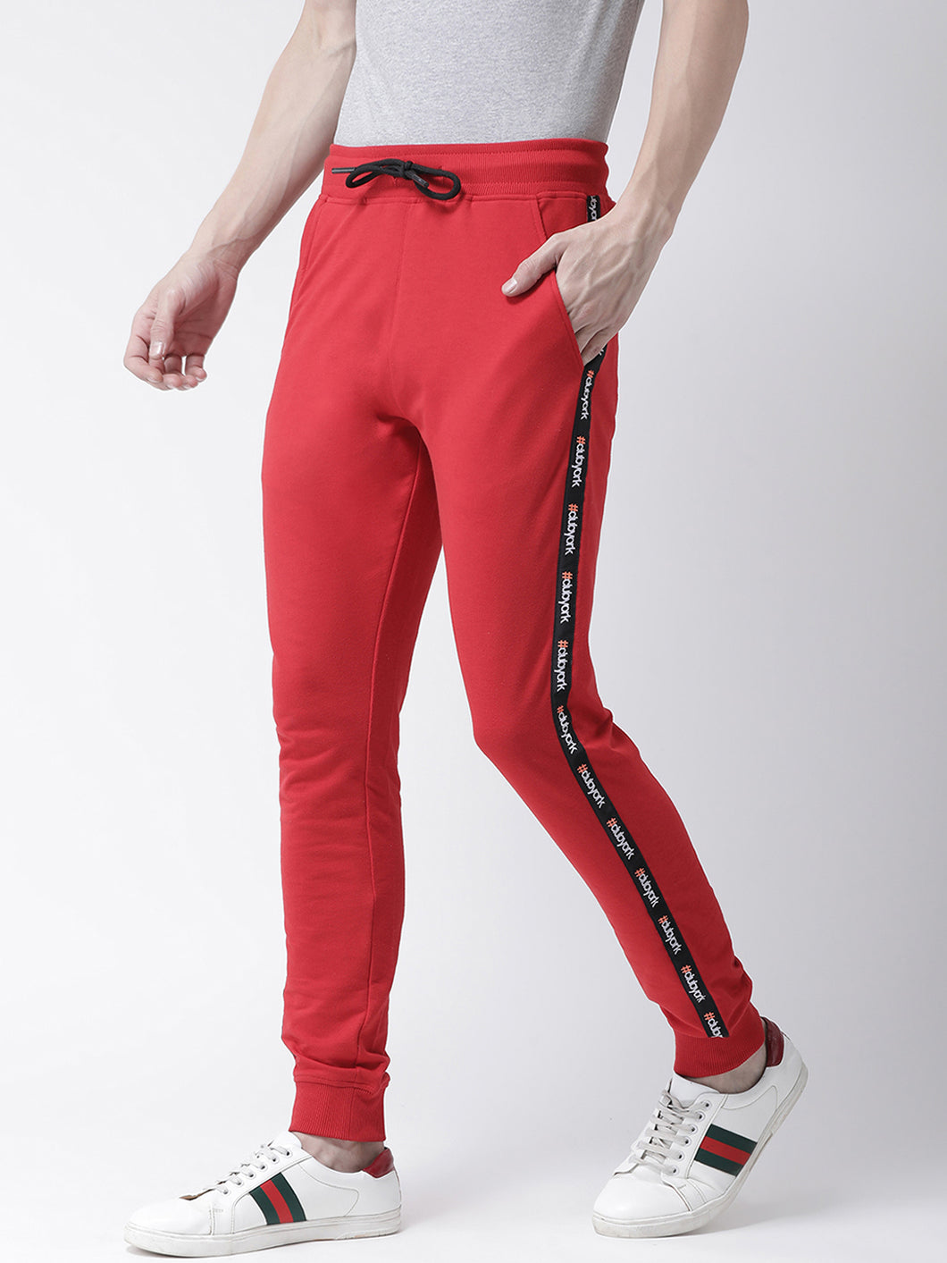 Men Red Solid Slim-Fit Jogger PRICE : Rs.749 | Book For Rs.31 Only