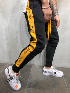 Special Sale Latest Trend Black Joggers with Yellow Strips Mens