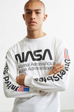 Style Nasa Long Sleeves Designer White Tee with upto 50% off