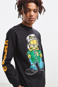 Buy High Quality Garfield Long Sleeve Premium Designer Black Tee at best price ever