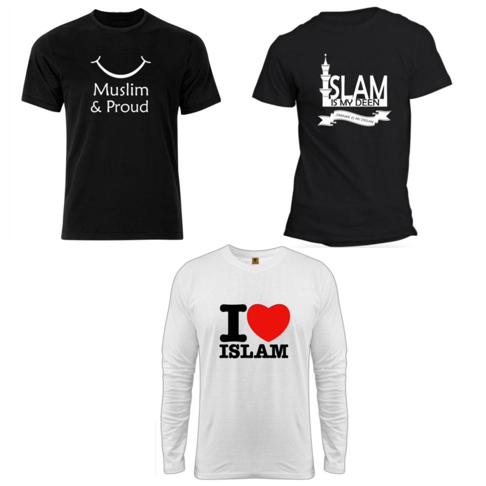 EID Offer Islamic T-Shirts Combo - Badtamees