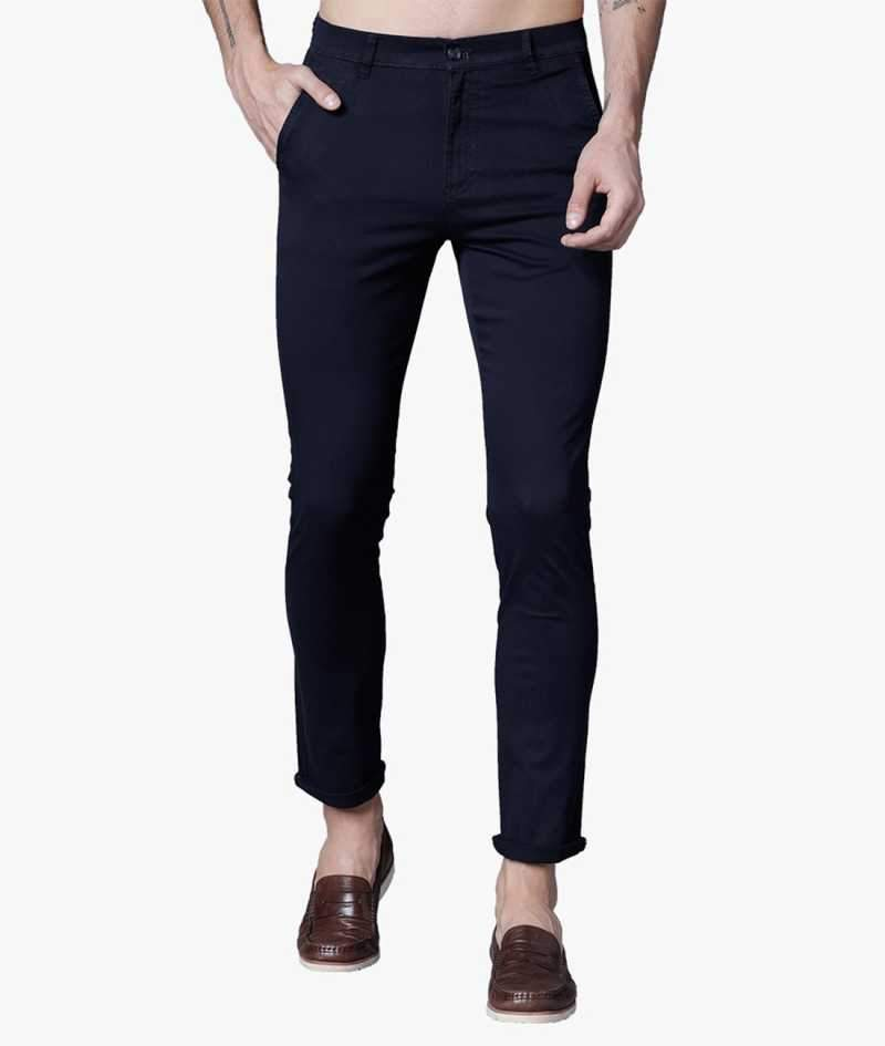 Navy Blue Non cuff Short Slimfit Chinos PRICE : Rs.599 | Book For Rs.31 Only