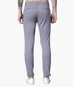 Lite Grey Non cuff Short Slim Fit Chinos PRICE : Rs.749 | Book For Rs.31 Only